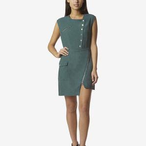Avec Les Filles Utility Zipper mini Dress